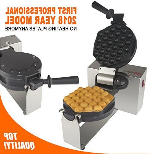 egg bubble waffle maker rotated