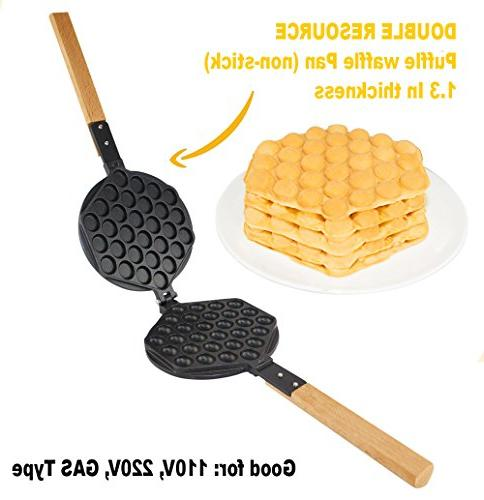 egg waffle maker rotated nonstick