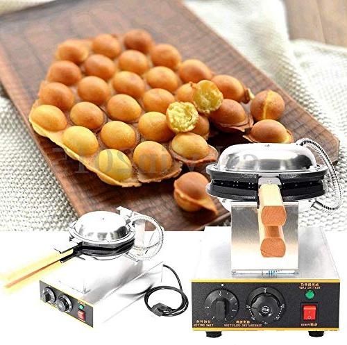 Cocoarm Egg Maker,Stainless Steel Rotated Electric Egg Puff Bread Maker