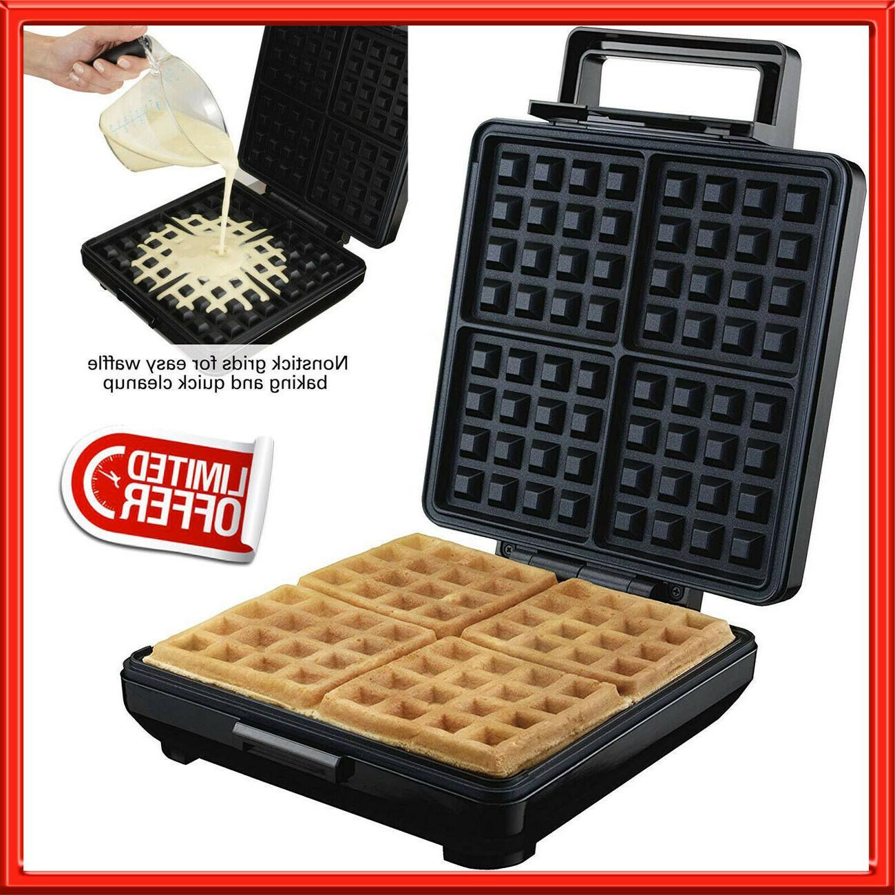 electric belgian waffle maker nonstick breakfast kitchen