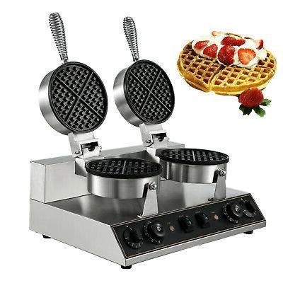 commercial round waffle maker belgian waffle baker