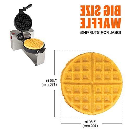 180 Rotated 4-Slice Round Waffle Maker Iron