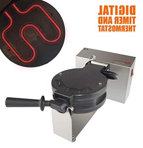 180 Rotated 110v 4-Slice Belgian Waffle Maker Machine Iron