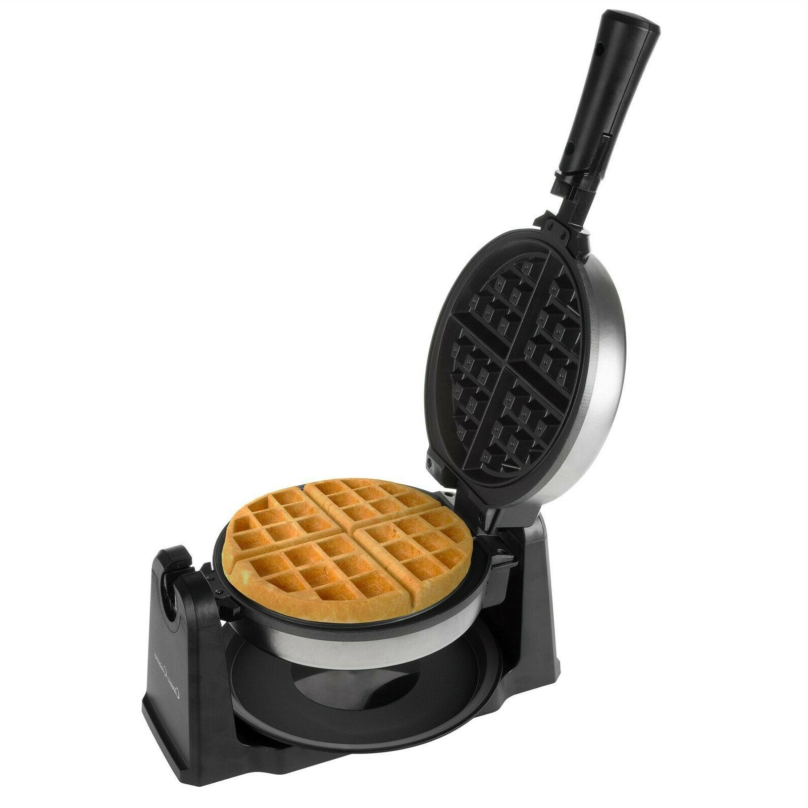 electric waffle iron nonstick 180 flip drip
