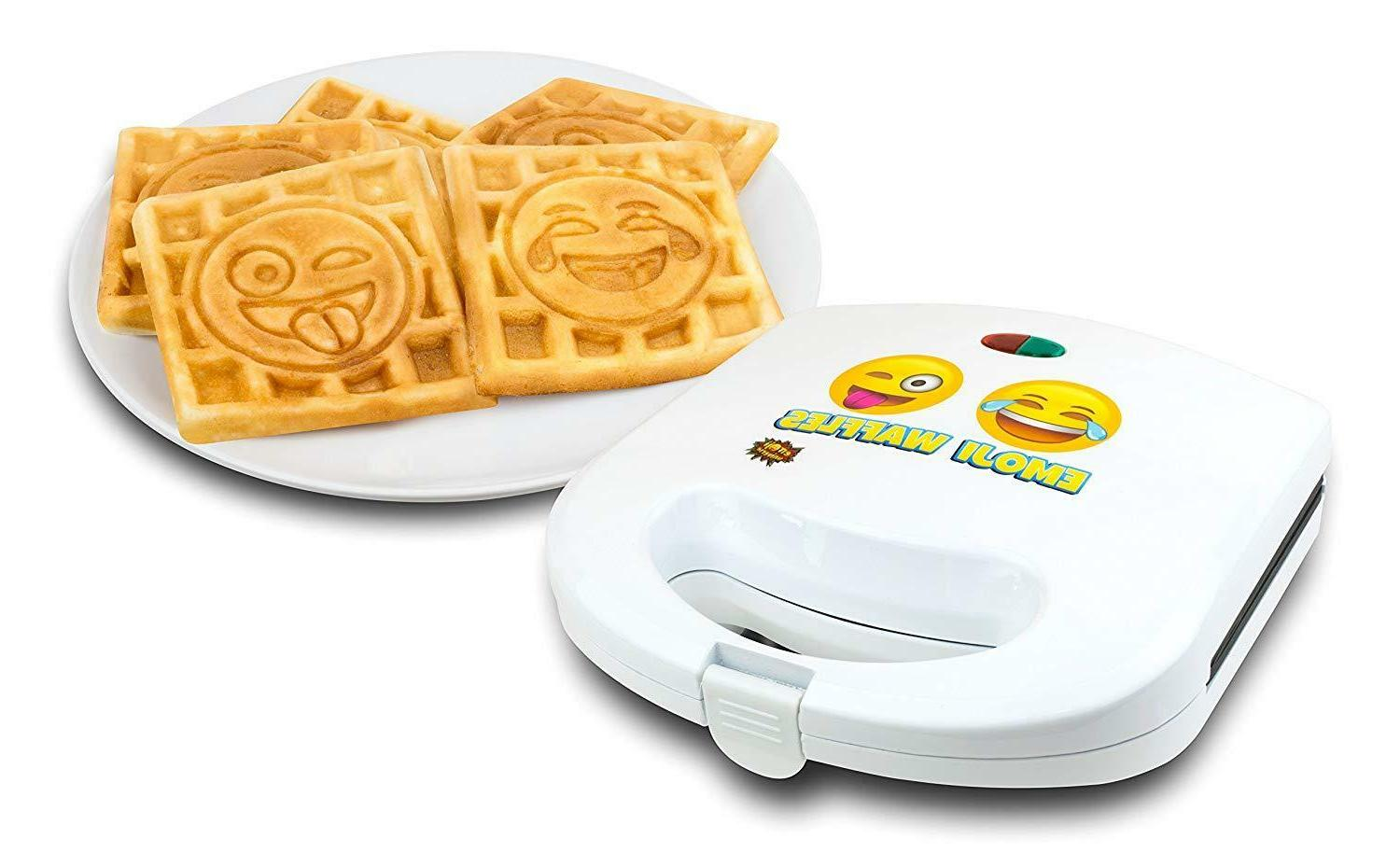 Emoji Waffle Maker Slice Iron Small Kitchen Appliances Breakfast