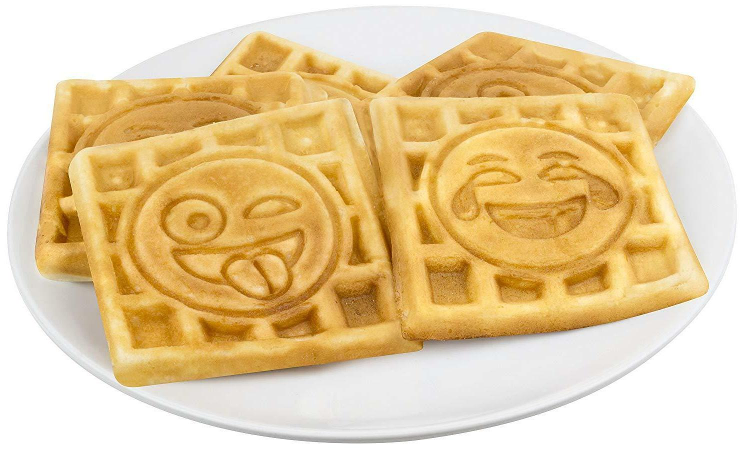 Emoji Waffle Maker Slice Iron Makers