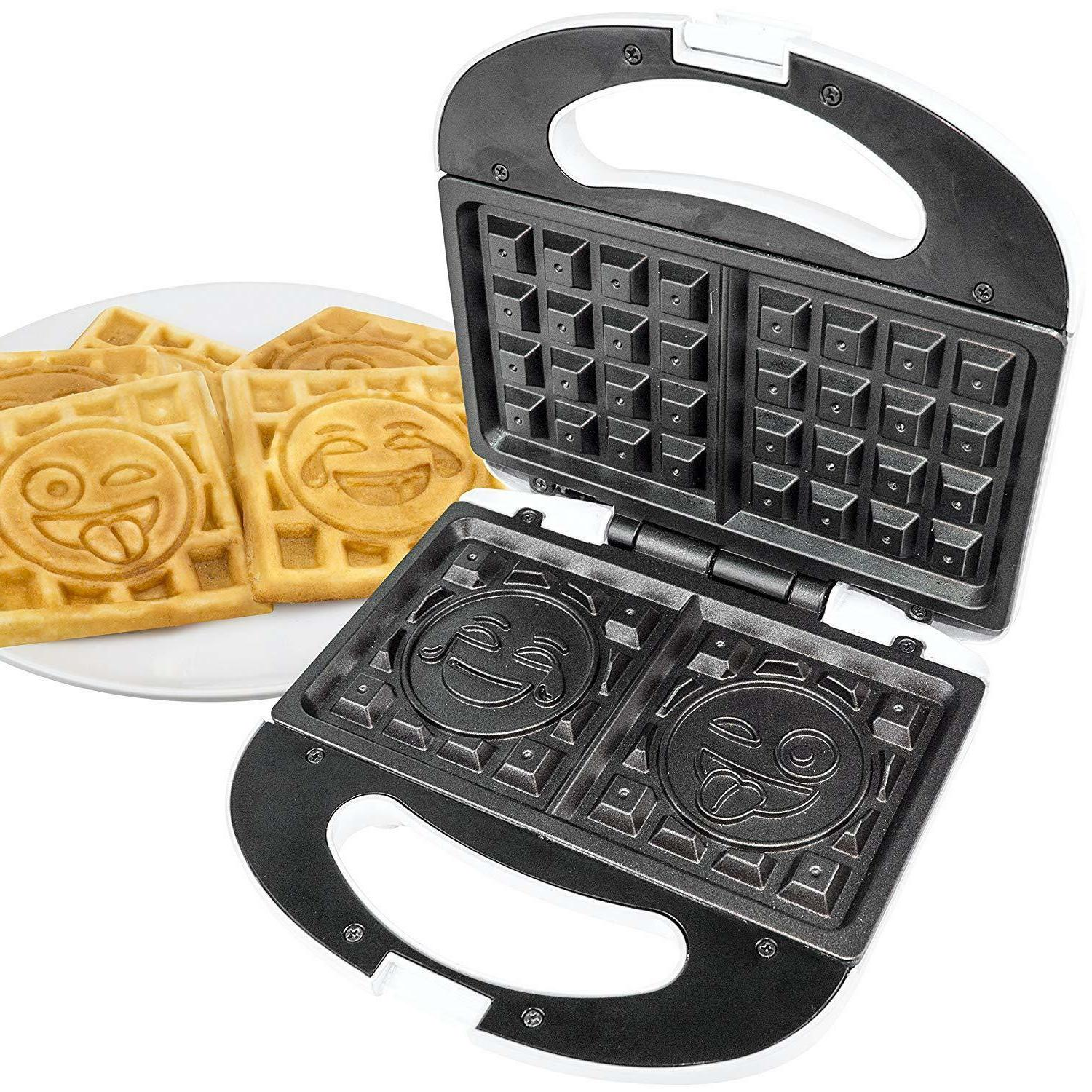 emoji waffle maker 2 slice iron makers