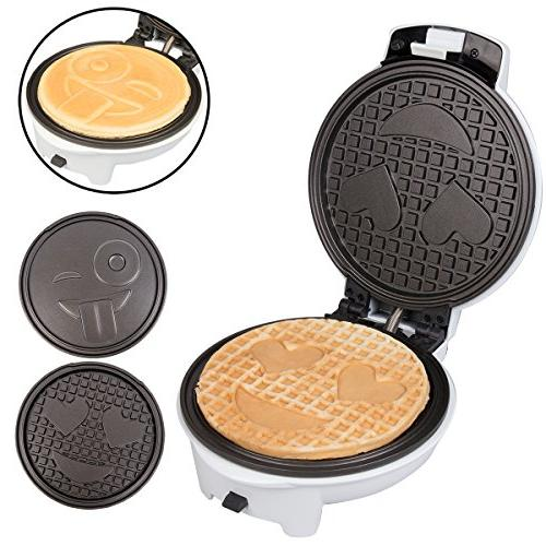 Emoji Maker Interchangeable - Diameter Smiley OR Pan Non-stick Electric Griddle