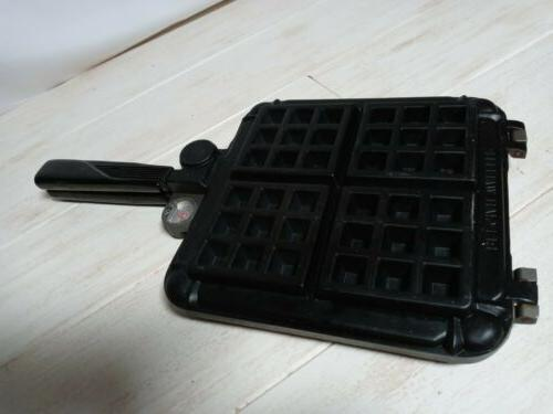 Stove Top WAFFLER Waffle Iron w/ Temperature Gauges