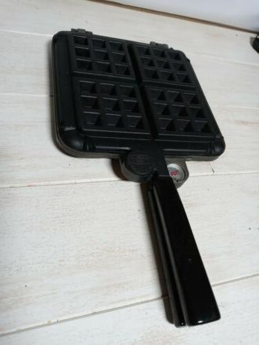 EUC VTG Stove Top Waffle Iron w/ Gauges
