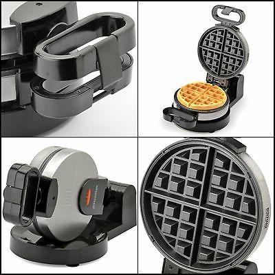 flip low profile waffle maker rotate 180