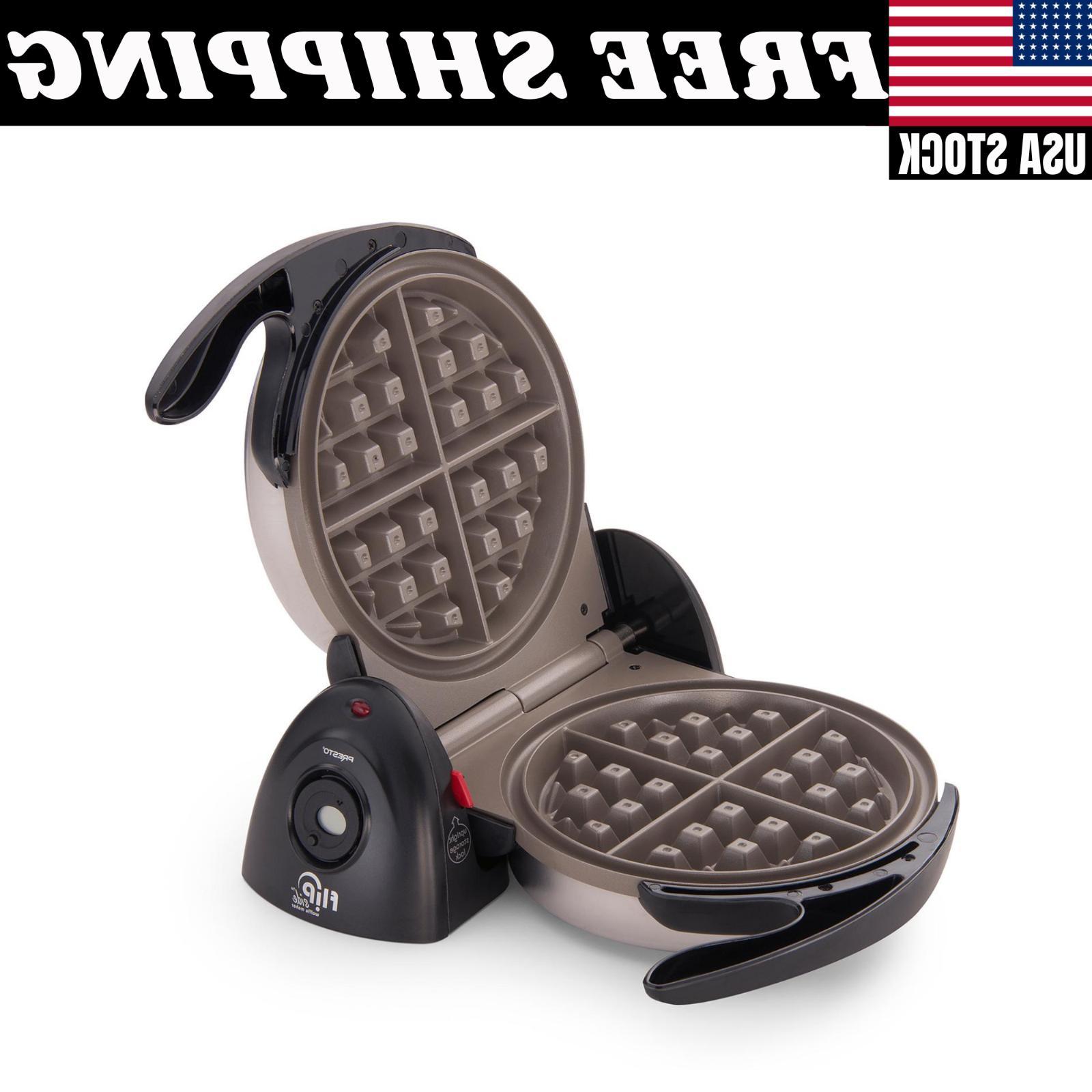 flipside belgian waffle maker home kitchen ceramic