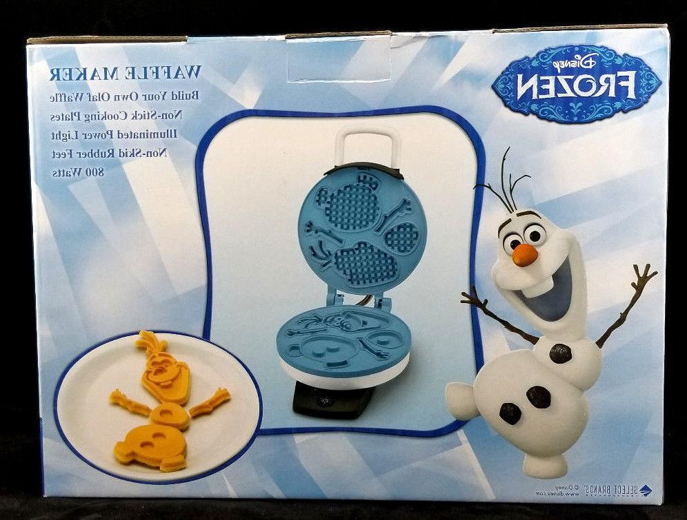 Disney Frozen Olaf Snowman Waffle Maker 800 Watts Plates NIB