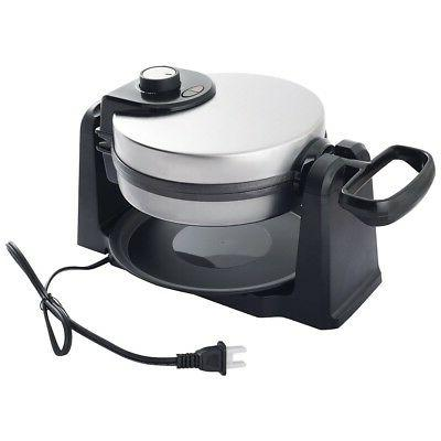 Home Kitchen Belgian Waffle Maker Cooking Plates Stainless 1080W