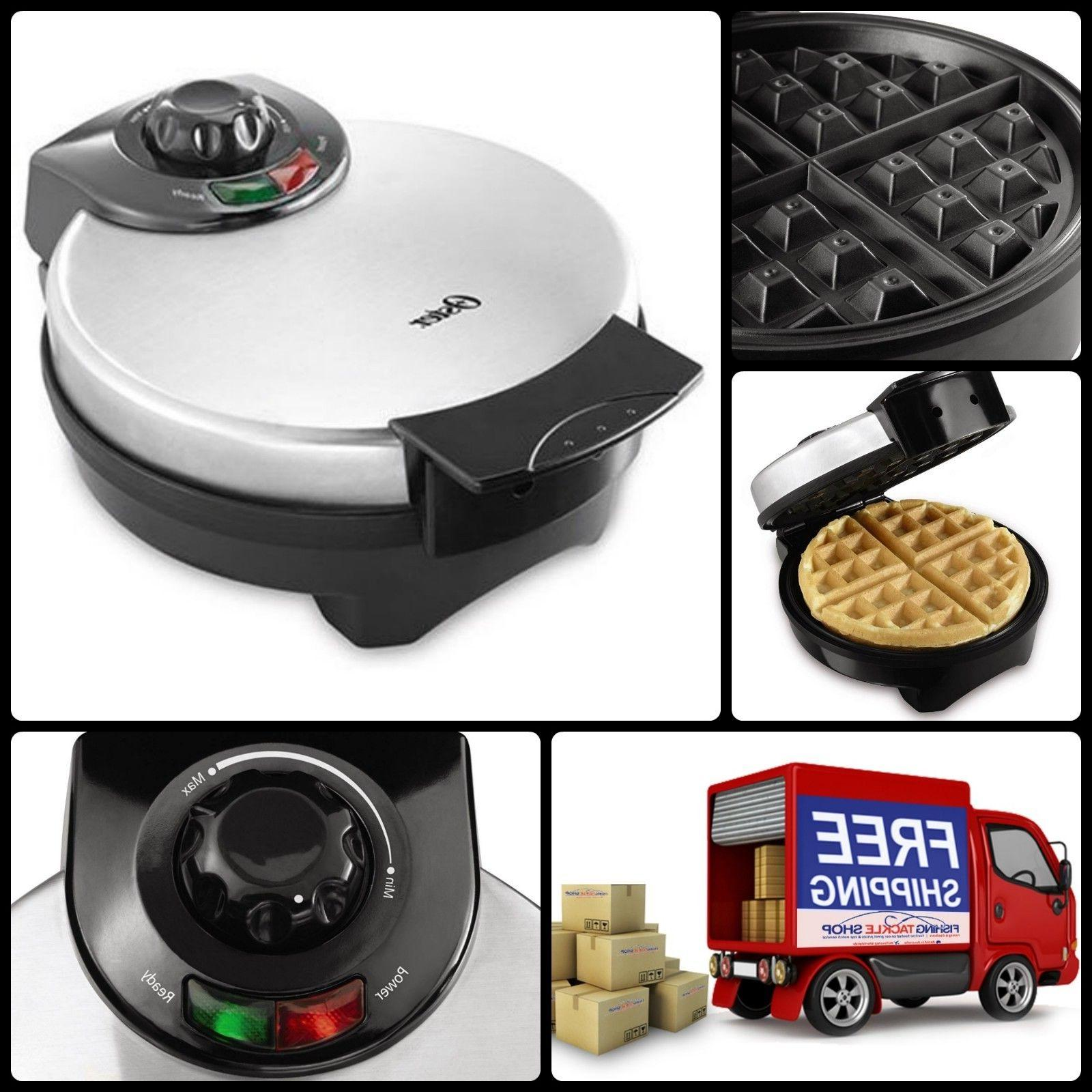 home kitchen cook waffle maker stainless steel