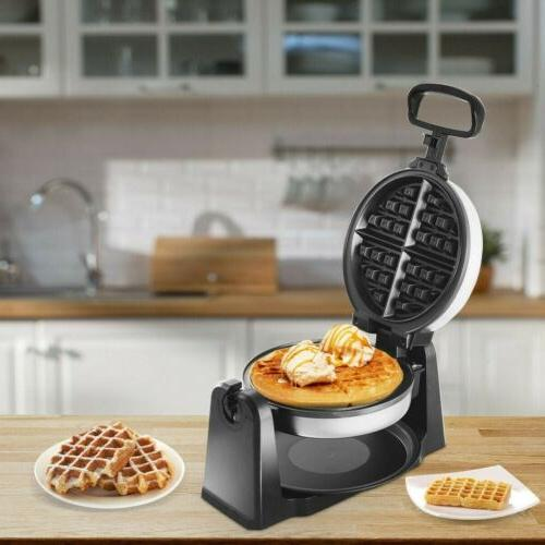 home kitchen stainless steel belgian waffle maker