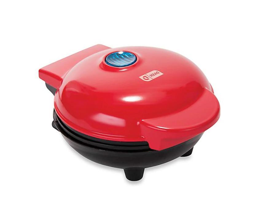 kitchen red belgian waffle appliance