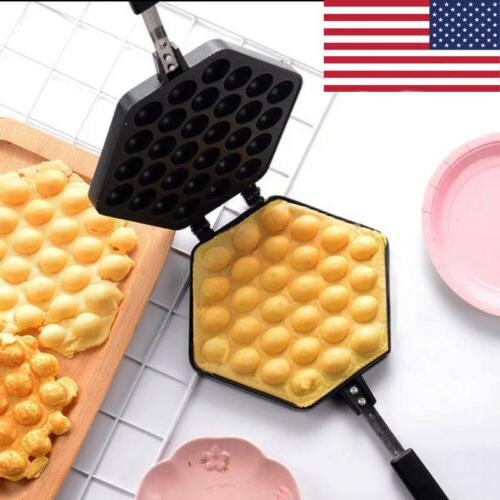 kitchen waffle pan non stick egg bubble