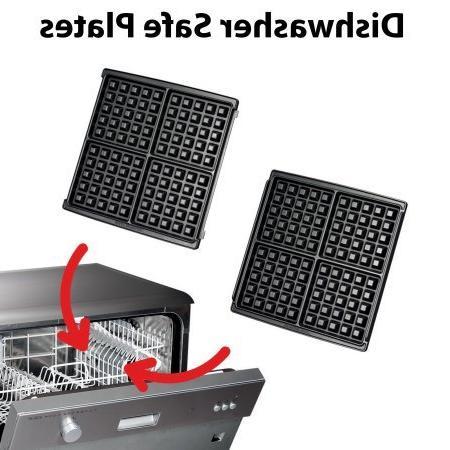 KRUPS, 4-Slice Maker Removable Plates, Stainless