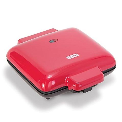 mess waffle maker red