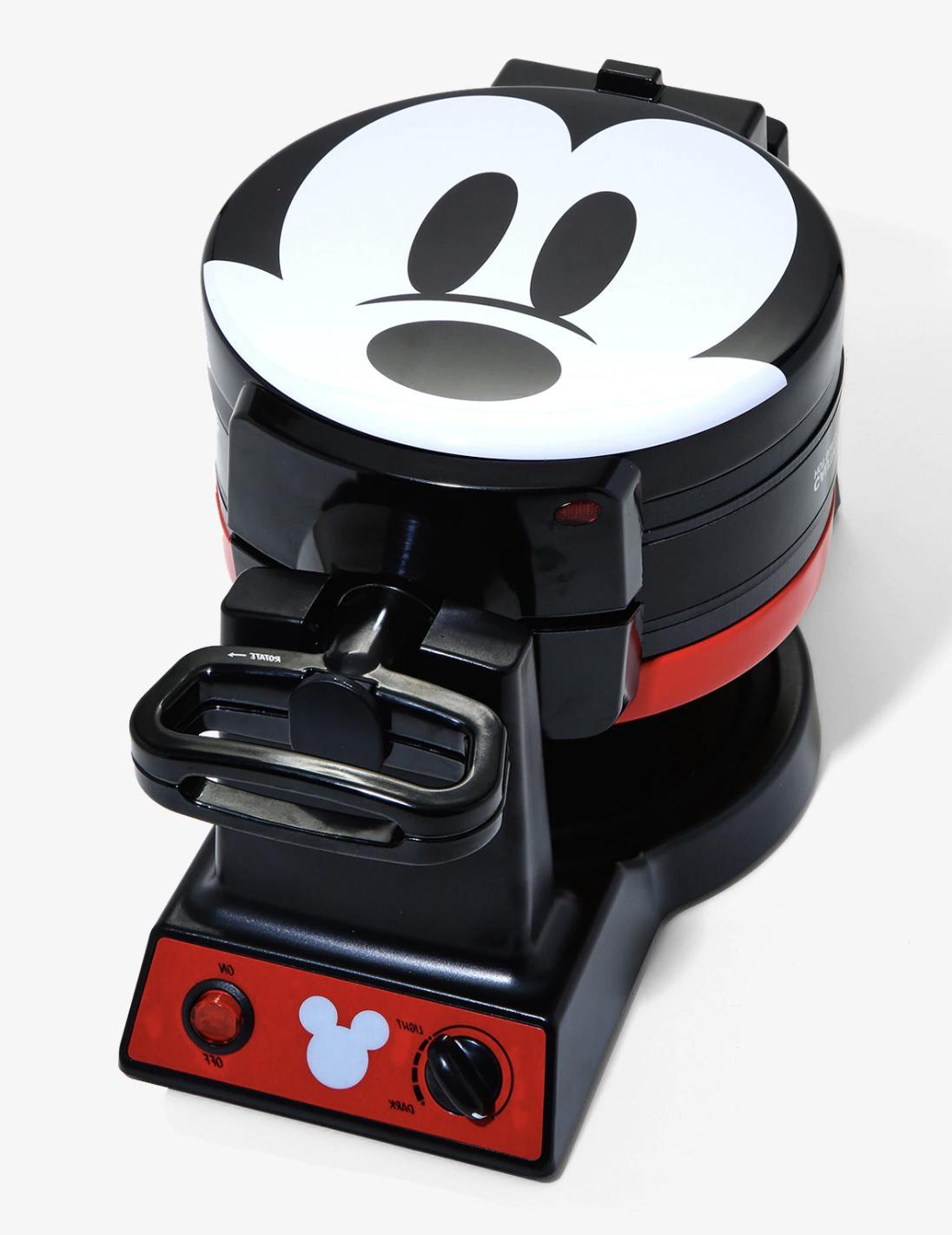 mickey mouse flip mini waffle maker new