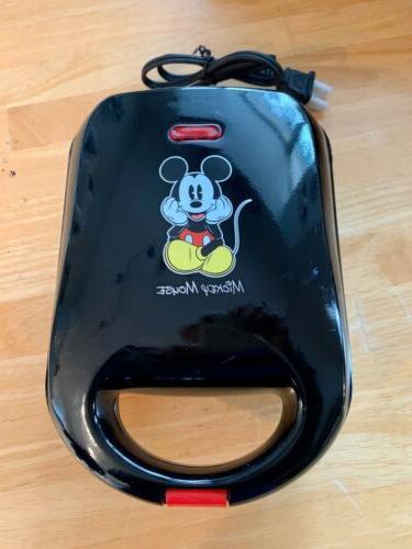 mickey mouse head shaped mini waffle iron