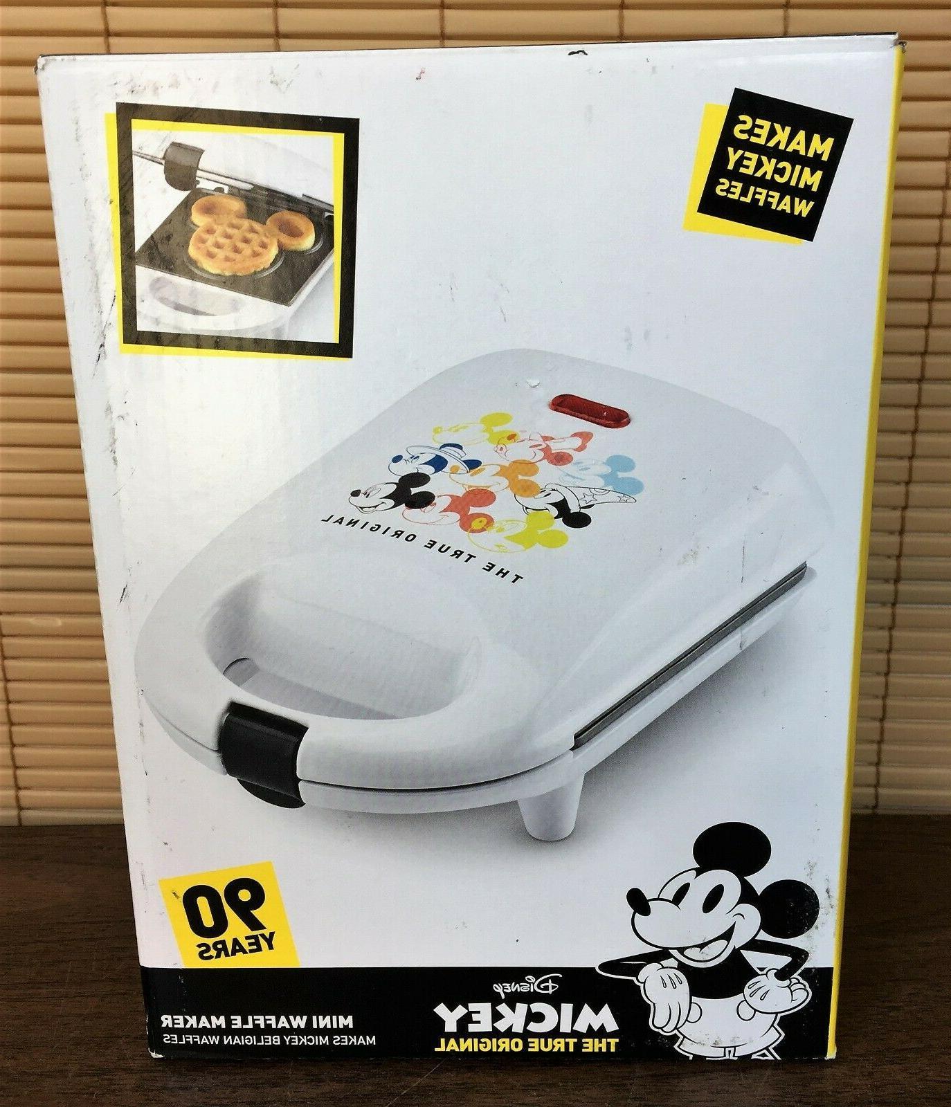 mickey mouse mini belgian waffle maker white
