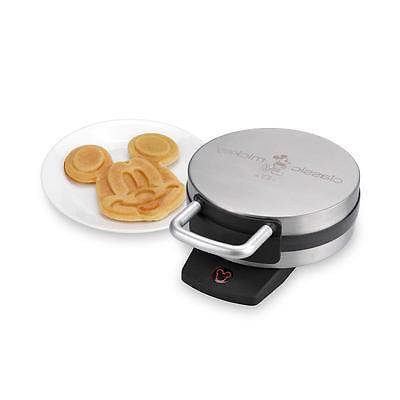 mickey mouse waffle non stick iron stainless