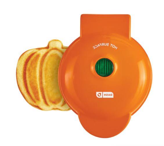 mini 4 pumpkin waffle maker electric