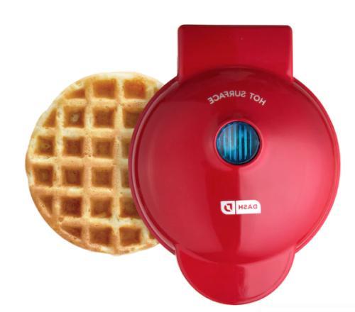 "Dash Mini electric 4"" Waffle/waffels Maker Non Stick 350 Wat"