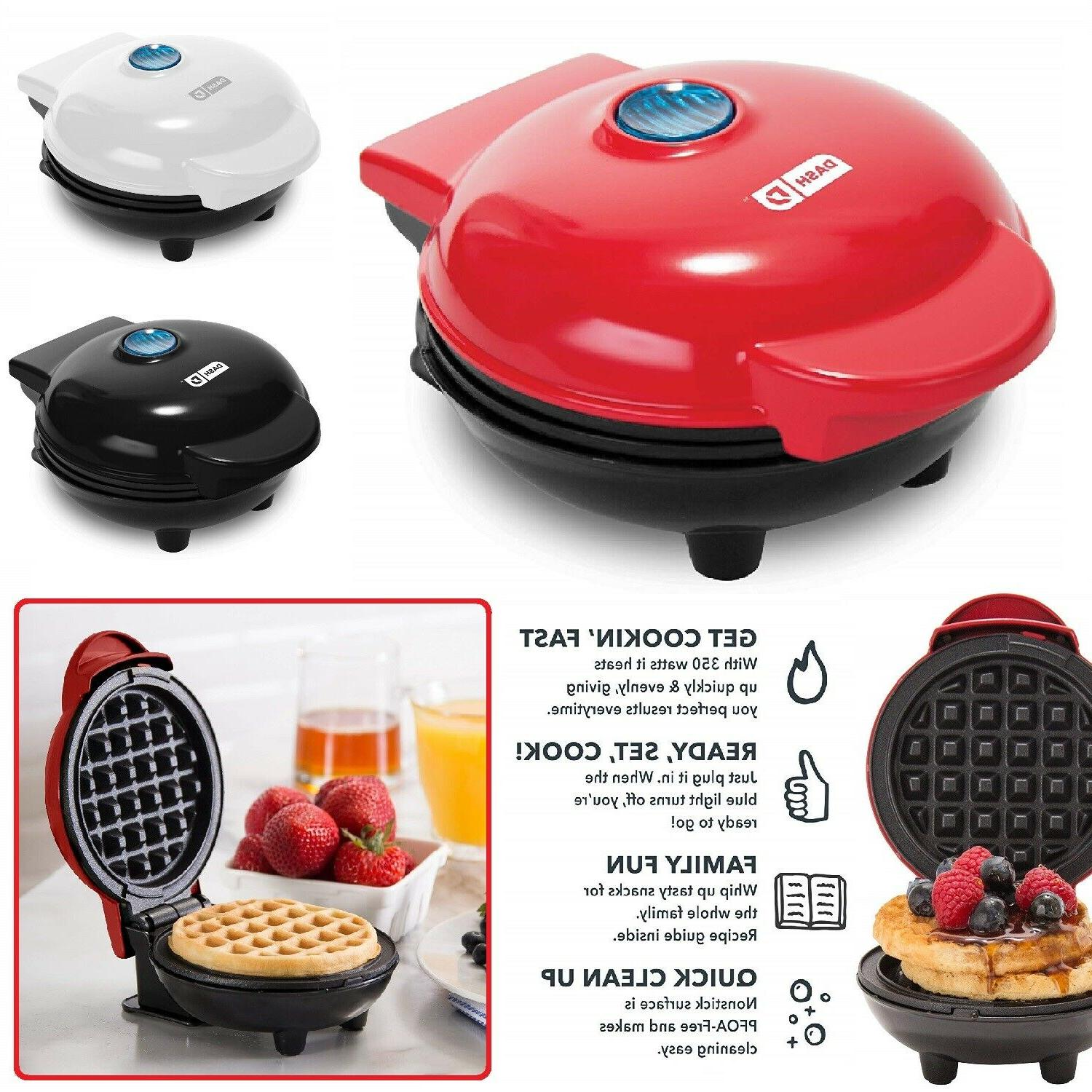 MINI BELGIAN WAFFLE MAKER Non Stick Individual Paninis Break