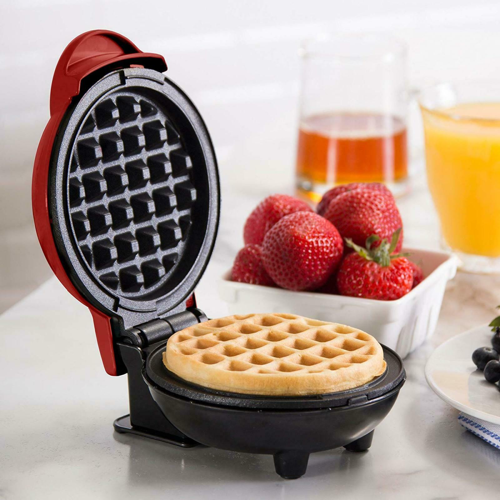 Dash Lightweight Non Home Kitchen Mini Waffle Red