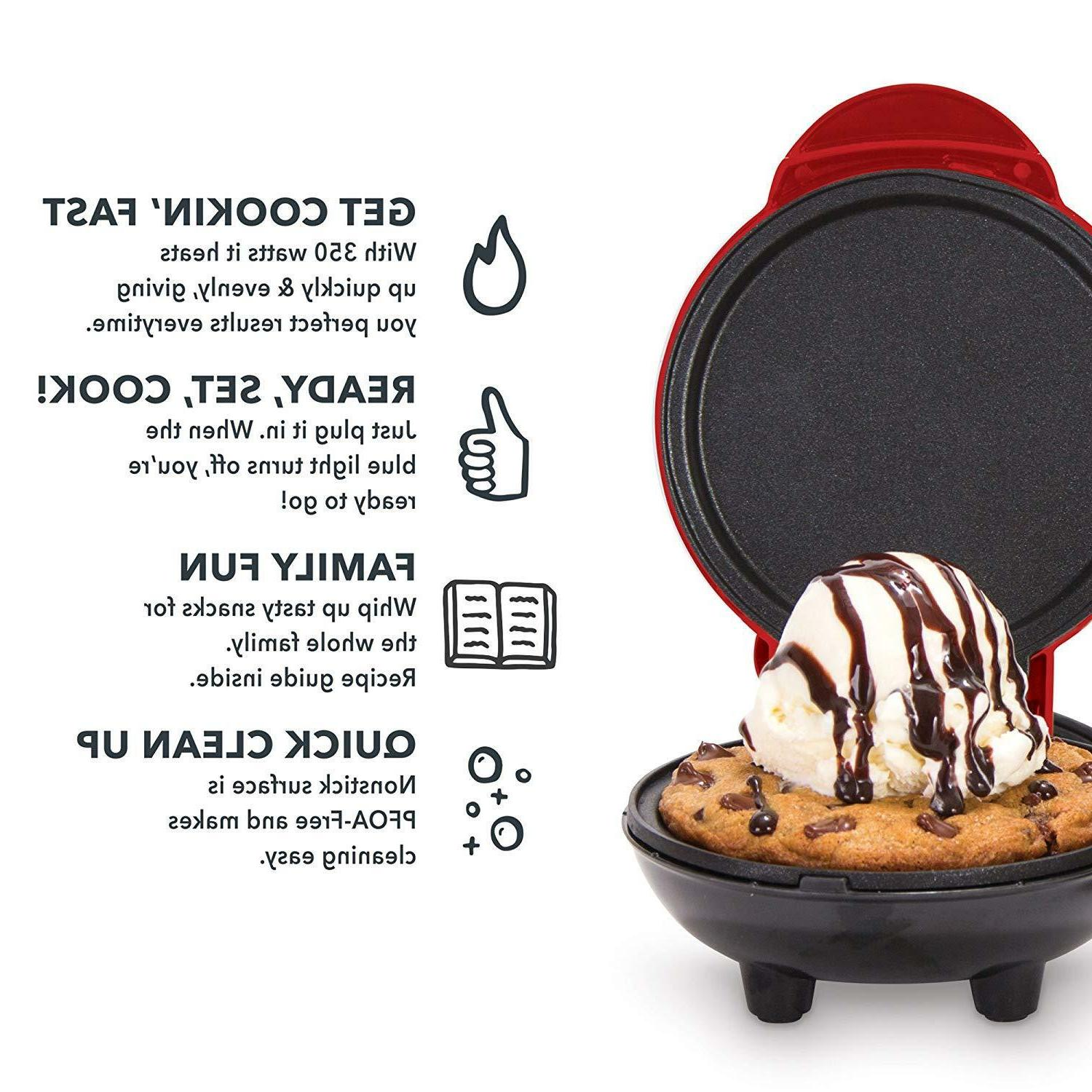 Mini Maker Griddle for Cookies White Black