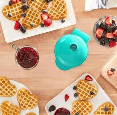 Dash Maker: Set of Waffle Maker, In Aqua