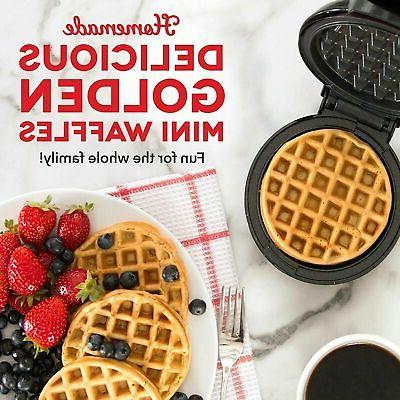 Mini Maker The Waffle Maker Electric Machine Individual Black