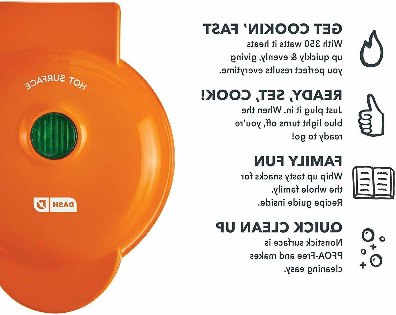 Dash Mini Waffle Maker Orange.