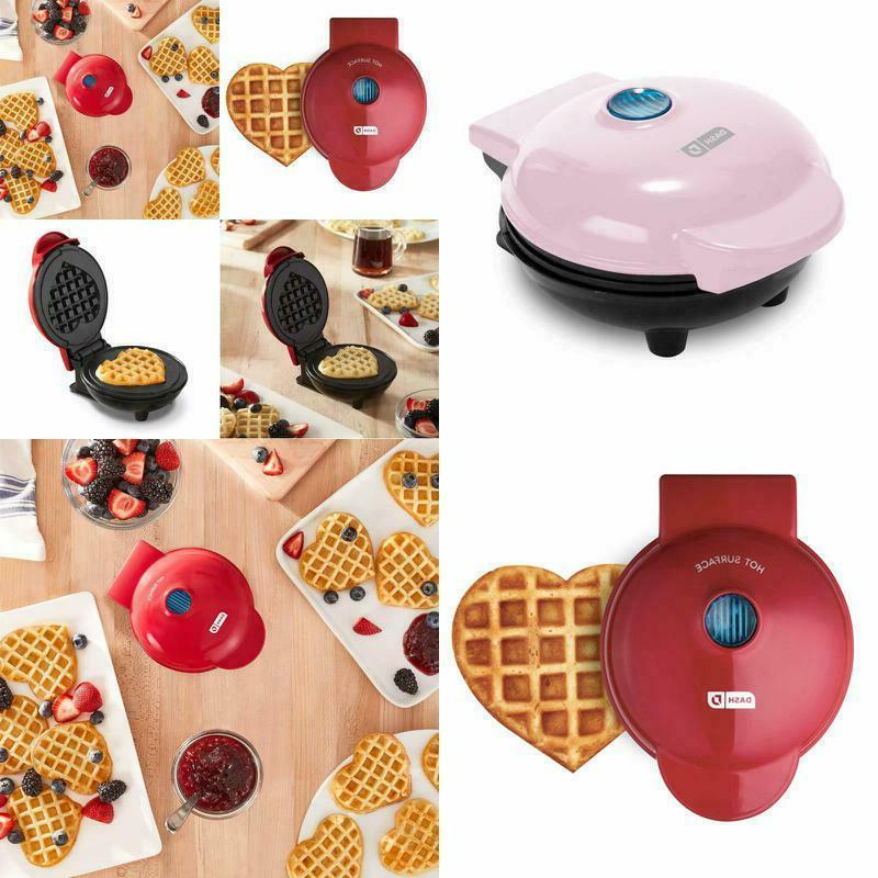 Dash Mini Waffle  Maker Heart Shaped or Individual Waffles,