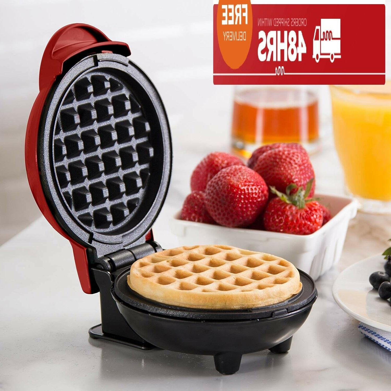 Mini Waffle Maker Dash Kids Panini Press Hash Browns Snacks