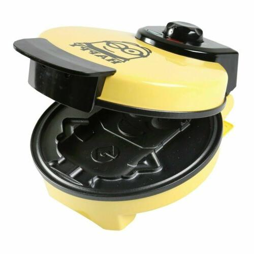 Minions Dave Waffle Maker Iron Non-Stick Electric Kitchen