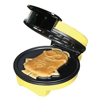 Minions Waffle Maker Iron Kitchen Appliance -