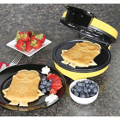 Minions Dave Waffle Iron Kitchen Yellow