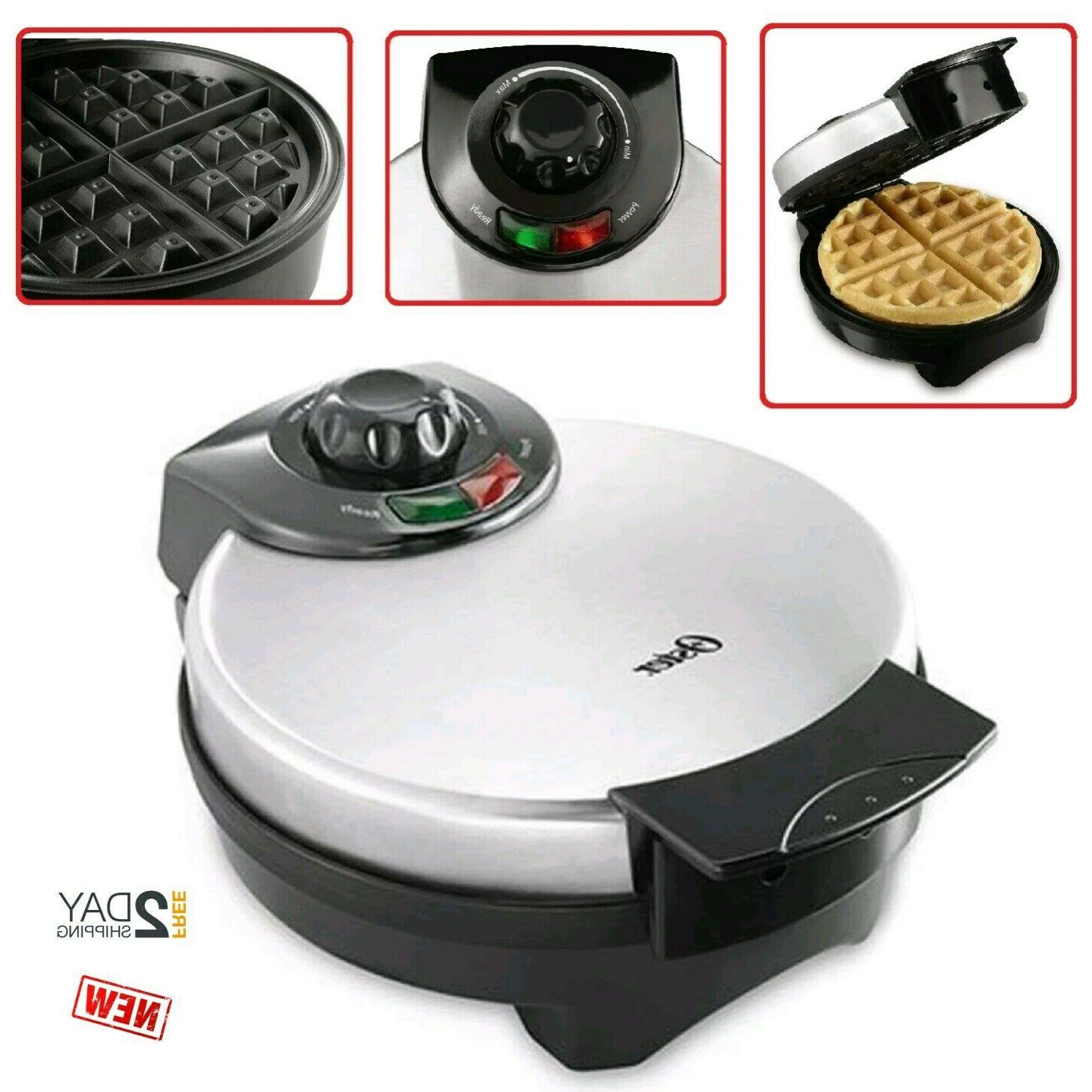 new belgian waffle maker stainless steel round