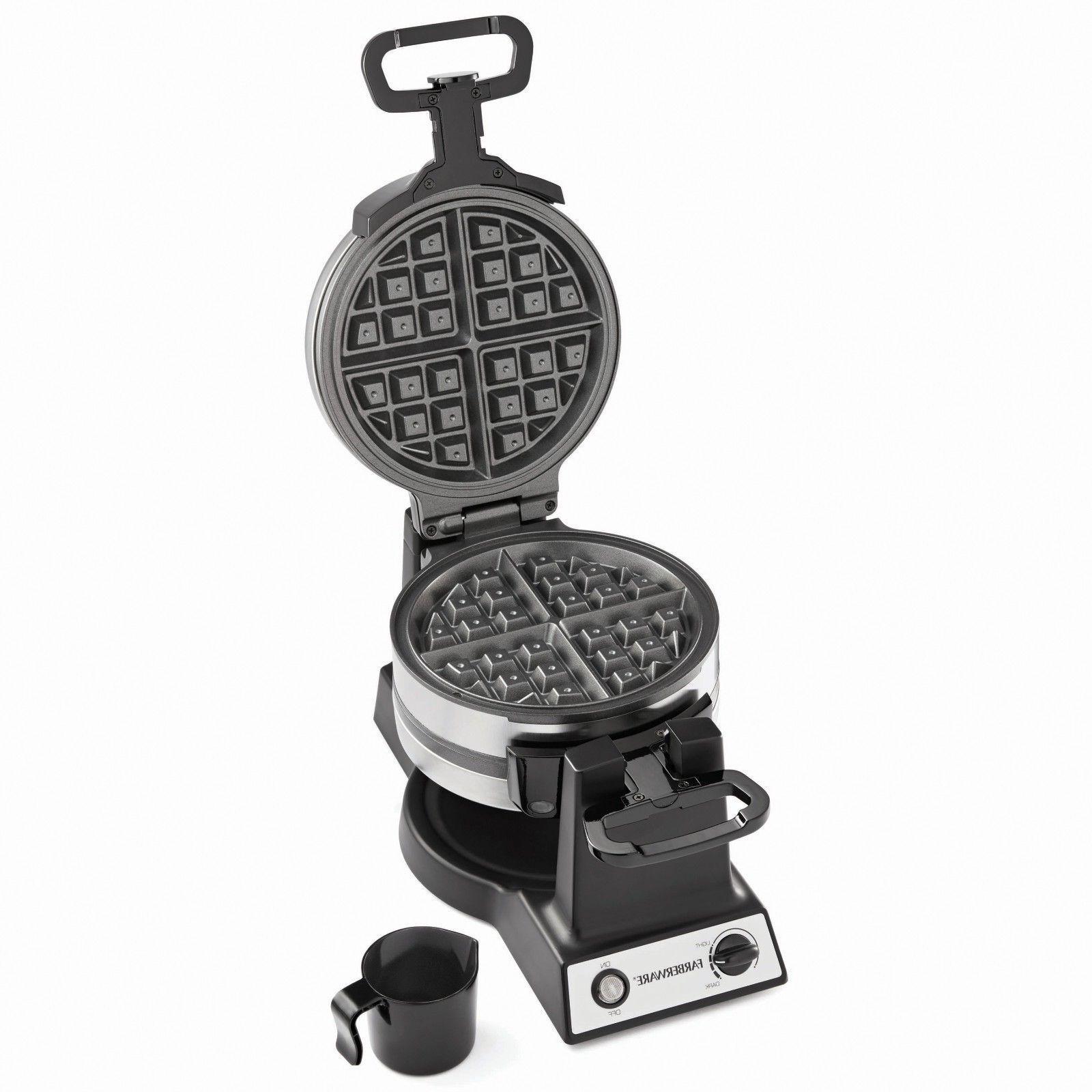 new double flip waffle maker kitchen breakfast