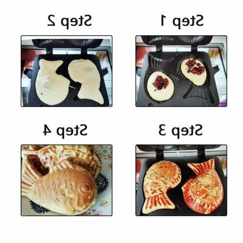 Waffle Maker Pancake Double Pan