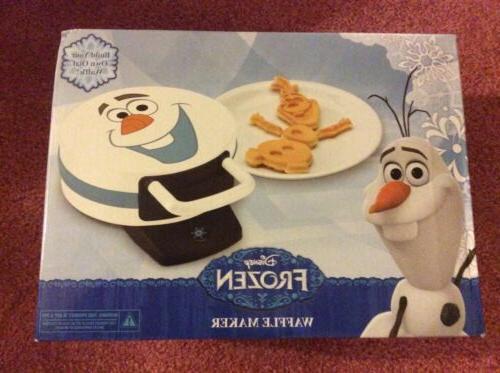 new waffle maker iron olaf snowman frozen