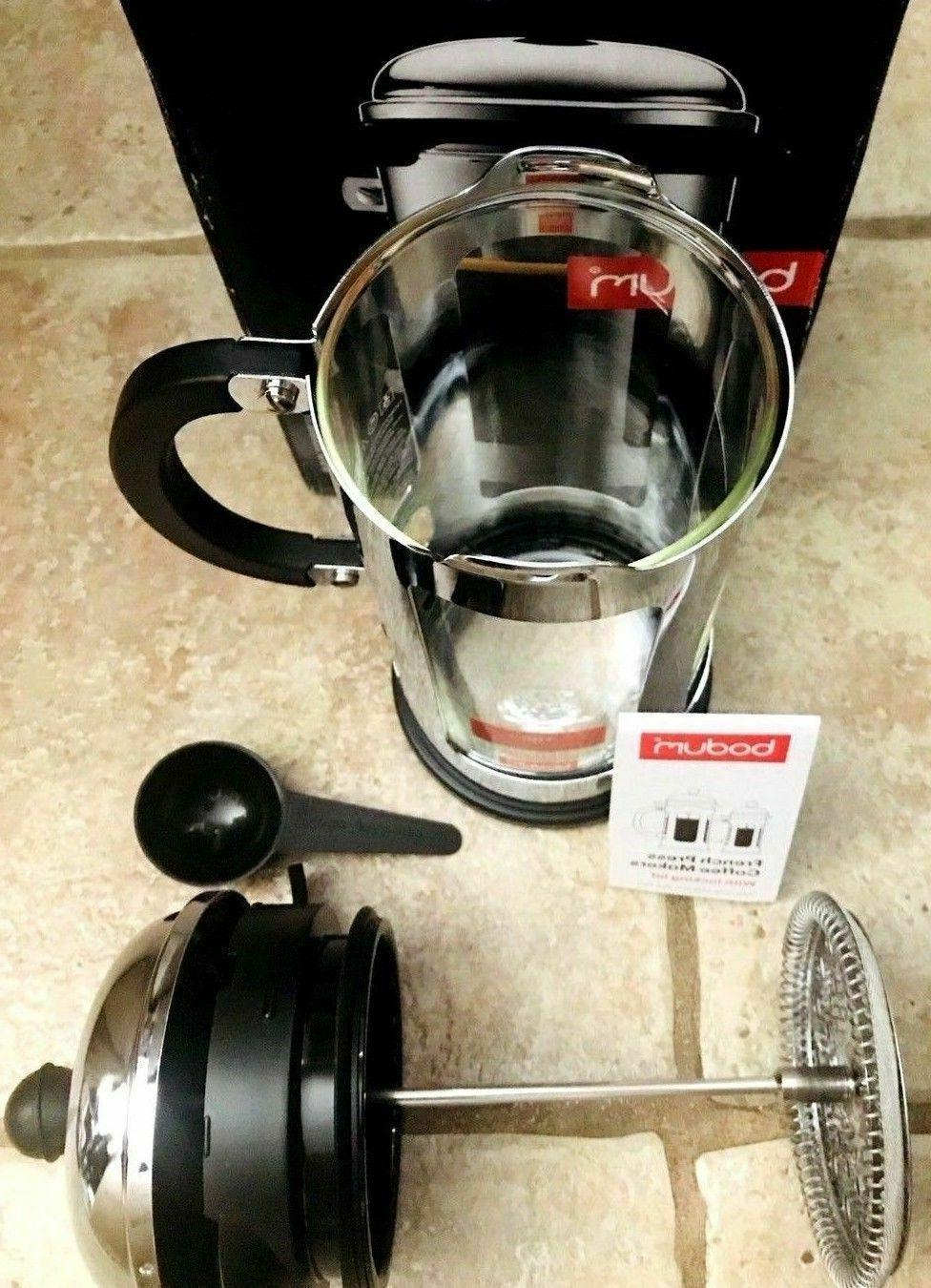 NIB Bodum Chambord 8 Cup Steel French Coffee