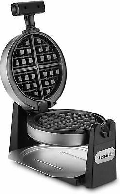 Cuisinart Flip Style Nonstick Round Belgian Waffle Maker