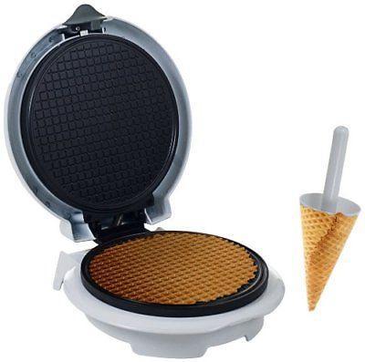 non stick waffle cone maker with cone