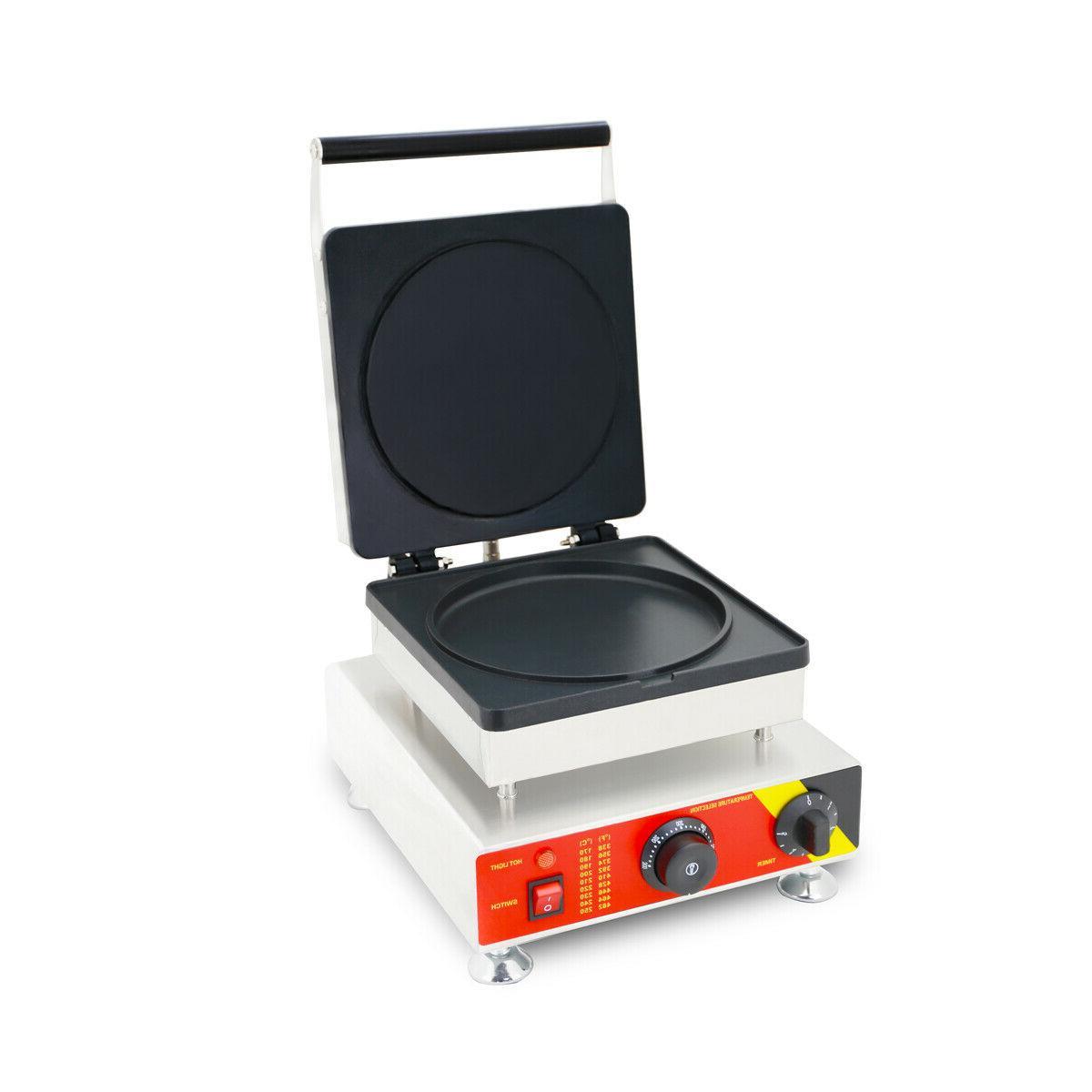 INTBUYING Nonstick Electric Round Pancake Machine