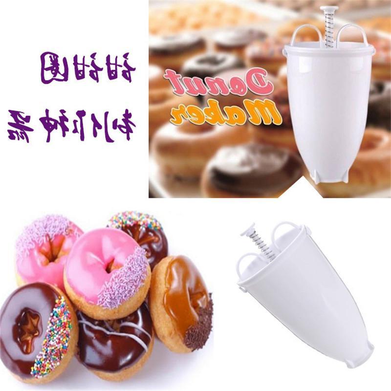 Plastic Mini Donuts <font><b>Maker</b></font> Dessert Deep Donuts Fast Portable Arabic Gadget Kitchen Tools
